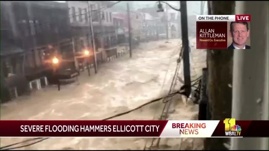 Heavy rain flooding Ellicott City, parts of Baltimore area