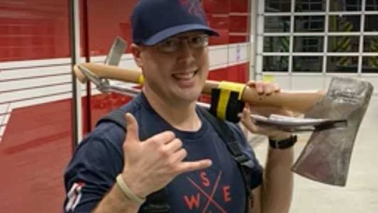 'Lean into it': Firefighter honored for answering call to adopt 2 girls in horrific situation