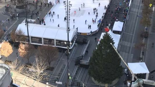 LIVE: Fountain Square Christmas tree lights up, kicking off holiday season