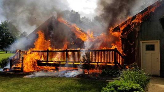 York Township home gutted by fire
