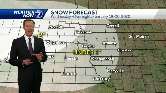 Snow chance Wednesday