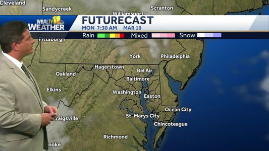 Showers clear for mostly sunny, pleasant Sunday