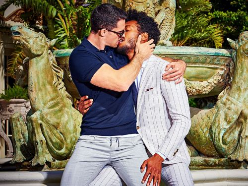 A suit startup's new ads features two men kissing - and some people are furious