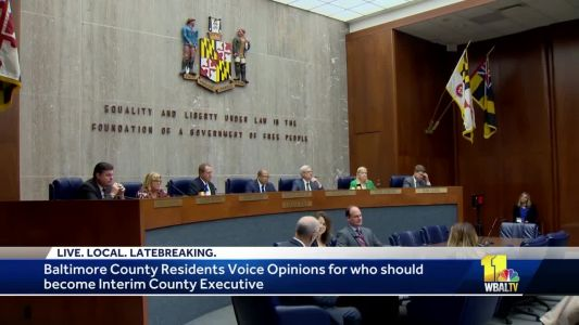 Baltimore County Council hears public comment on county executive replacement