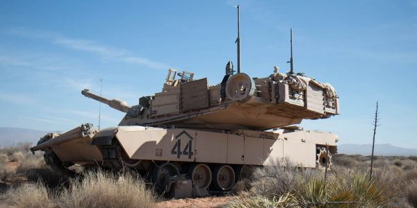We got an up-close look at an M1 Abrams tank - the king of the battlefield