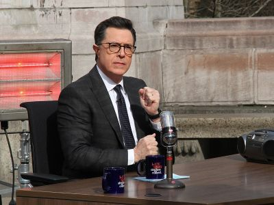 Stephen Colbert says Russian intelligence officers followed him on a recent trip to the country