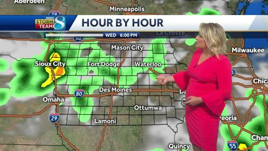 Tracking incoming complex of storms