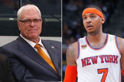 Carmelo doesn't sound over it as he and Phil make peace