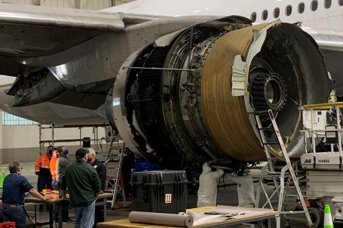 Damage to Boeing 777 engine consistent with metal fatigue, NTSB says