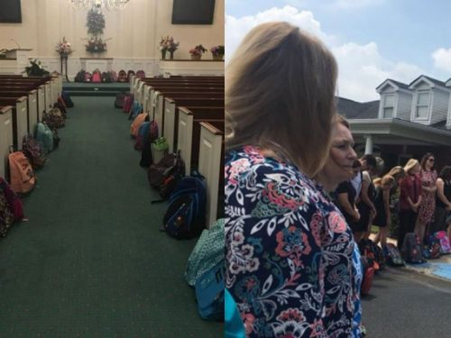 Teacher makes a final request for backpacks over flowers at her funeral