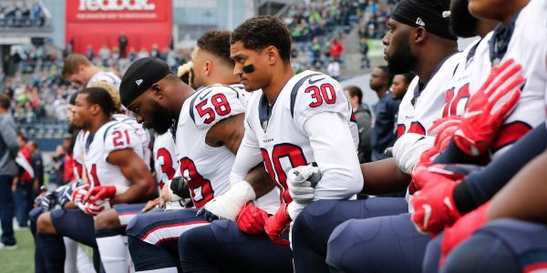 NFL owners are discussing how to handle players who kneel during the anthem and one radical idea would include 15-yard penalties