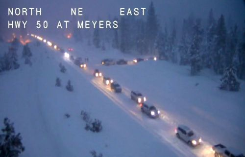 Hwy. 50 in Sierra reopens after snowslide forces closure