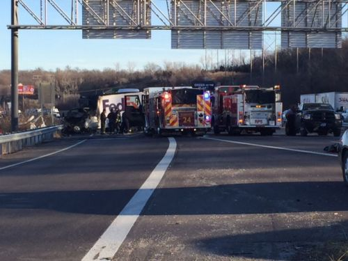 Fatality reported in fiery crash on I-435 near 23rd Street