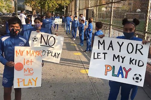Success Academy protests NYC's field use fees for athletics