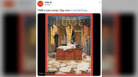 'Did Antifa blow through there?' TIME cover depicts Biden's first day in Oval Office ransacked by Trump