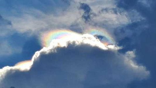 Radiant 'rainbow cloud' spotted in southern Indiana