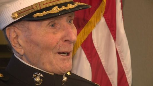 Oldest living Marine celebrates 105th birthday with drive-by salute