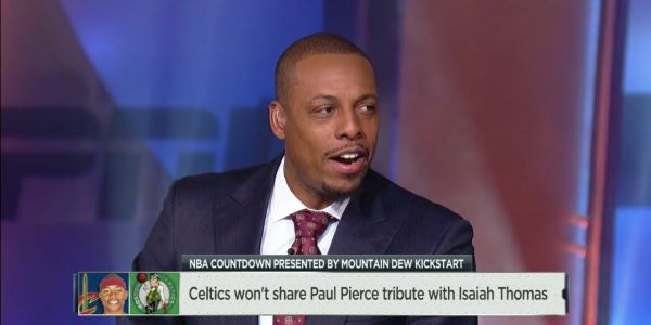 Jalen Rose tells Paul Pierce he is being 'petty' during ESPN segment about his feud with Isaiah Thomas