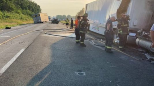 2 children, 2 teens dead in fiery Indiana crash; semi driver accused of drug use