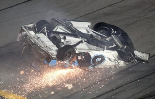Ryan Newman's fiery crash overshadows Denny Hamlin's victory in Daytona 500