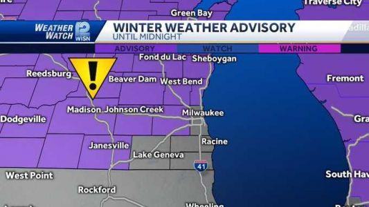 Winter weather advisory in effect until midnight