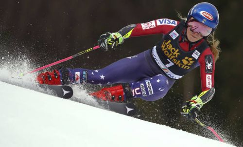 US skier Shiffrin takes big 1st-run lead in GS despite cold