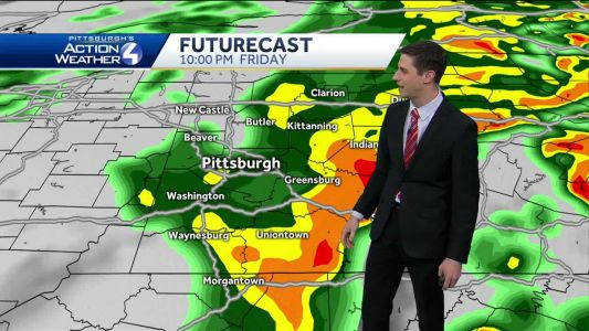 Pittsburgh Weather: Impact Day, rain showers continue Friday evening