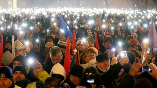 Protests Grip Hungary In Response To Overtime Measure That Critics Call A 'Slave Law'