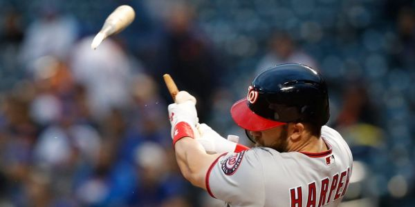 Bryce Harper hit an incredible 406-foot home run with a broken bat