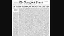 The New York Times Fills Entire Cover With Names Of Coronavirus Victims In The U.S