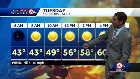 Temperatures cooling back down for your Tuesday