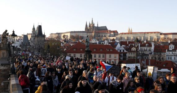 Czechs rally against PM on Velvet Revolution anniversary