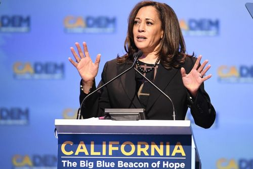 Harris hustles to lock down California en route to the nomination