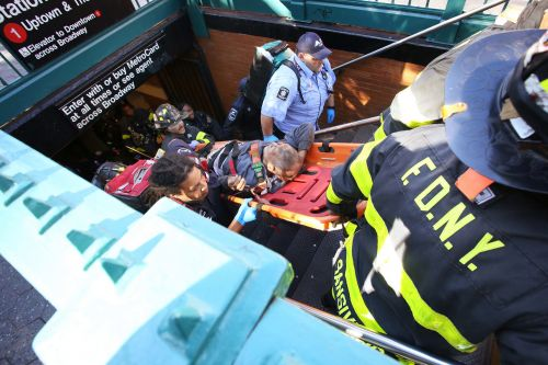 Elderly man critically hurt after falling in front of subway train