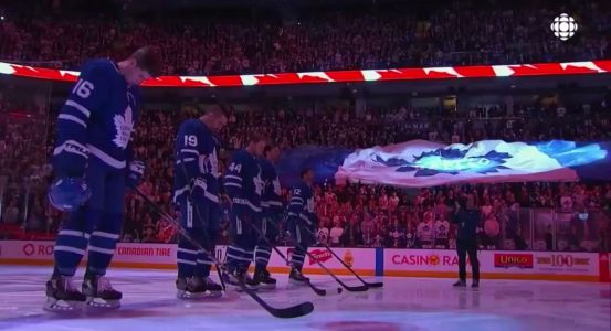 'ALL OF TORONTO IS WITH YOU': The Toronto Maple Leafs had a moving tribute for the victims of the van collision