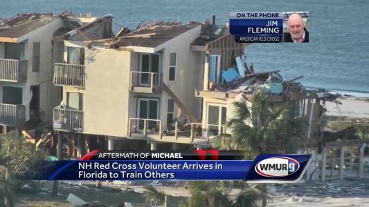 Red Cross volunteer from NH helping with Michael relief