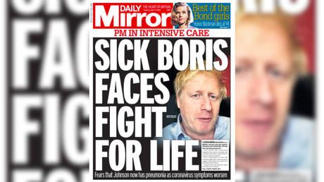 'Sick Boris faces fight for life': UK newspaper front pages react to PM's admission to intensive care