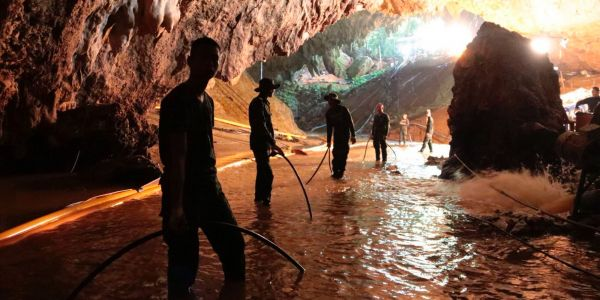 The rescued Thai soccer team dug a 16-foot deep hole inside the cave wall, despite not having anything to eat