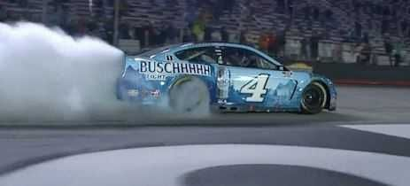 Harvick nabs 9th win of season to roll into second round
