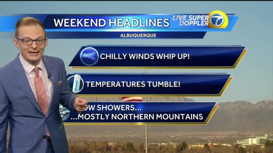 Prepare for a windy weekend chill down