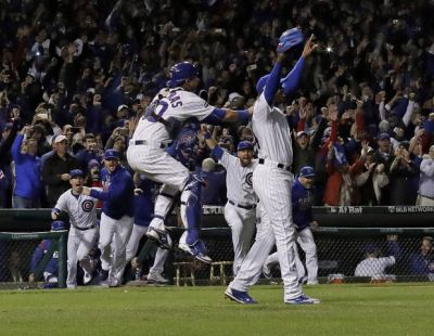 The Latest: Cubs fan remembers father, who died in May