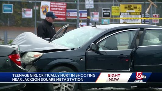17-year-old shot in car near Boston's Jackson Square