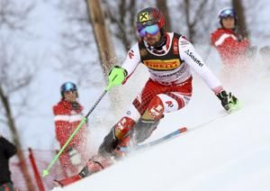 Hirscher wins slalom at worlds, leads Austrian clean sweep