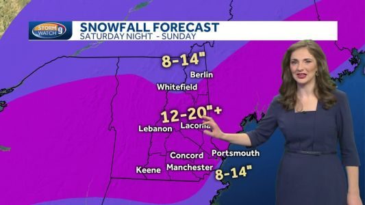 Watch: Light scattered snow today