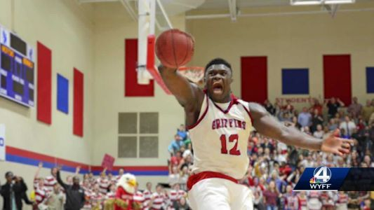 Zion Williamson's alma mater gets hyped for his March Madness action