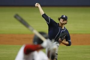 Padres' Paddack through 7 hitless innings vs Marlins