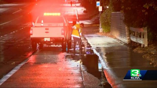 Rainy weather leads to spinouts in Sacramento