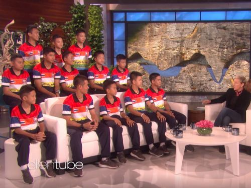 The Thai boys soccer team went on 'Ellen' and told how they survived for days on end in a cave - and revealed when they first realized they were trapped