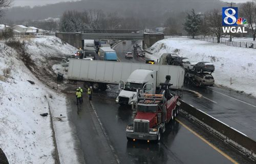 Storm leads to crashes, stuck vehicles, slow travel