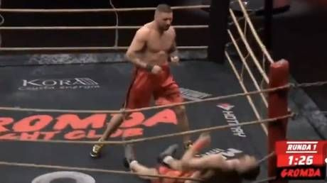 Polish bare-knuckle bruiser 'Balboa' bounces unconscious rival off ropes with savage KO victory at 'Gromda 5' event